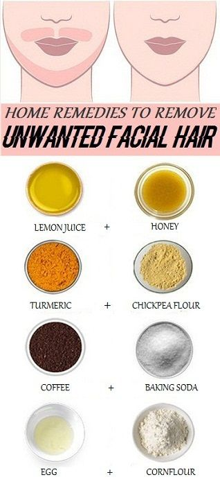 Home remedies for removing facial hair