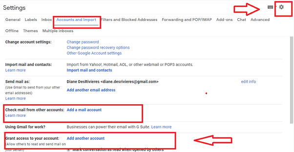 Gmail connected accounts